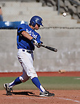Western Nevada's Matt Becker has an at-bat in a college baseball game against Salt Lake Community College in Carson City, Nev., on Friday, March 1, 2013..Photo by Cathleen Allison