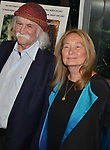 """David Crosby, Jan Dance 013 attends the Premiere Of Sony Pictures Classic's """"David Crosby: Remember My Name"""" at Linwood Dunn Theater on July 18, 2019 in Los Angeles, California."""