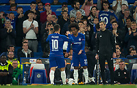 WILLIAN replaces Eden HAZARD of Chelsea during the UEFA Europa League match between Chelsea and Slavia Prague at Stamford Bridge, London, England on 18 April 2019. Photo by Andy Rowland / PRiME Media Images.<br /> .<br /> .<br /> Editorial use only, license required for commercial use. No use in betting,<br /> games or a single club/league/player publications.'