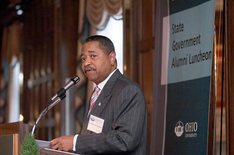 1766423rd Ohio University State Government Alumni Luncheon in Columbus...Dr. Roderick J. McDavis '70, President, Ohio University