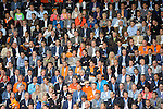 The Hague, Netherlands, June 03: Crowded stands during the field hockey group match (Men - Group B) between The Netherlands and Korea on June 3, 2014 during the World Cup 2014 at Kyocera Stadium in The Hague, Netherlands. Final score 2:1 (1:1) (Photo by Dirk Markgraf / www.265-images.com) *** Local caption ***