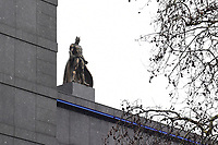 "Batman statue unveiled at the launch of ""Scenes in the Square"" statue trail in Leicester Square, London.<br /> <br /> ©Ash Knotek  D3558 27/02/2020"