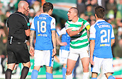 4th November 2017, McDiarmid Park, Perth, Scotland; Scottish Premiership football, St Johnstone versus Celtic; Scott Brown has words with Bobby Madden