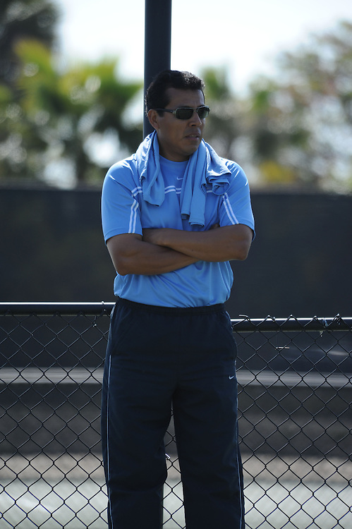 SAN DIEGO, CA - APRIL 24:  Coach of the USD Toreros during the WCC Tennis Championships at the Barnes Tennis Center on April 24, 2010 in San Diego, California.