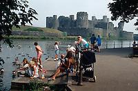 Großbritannien, Wales, Caerphilly-Castle