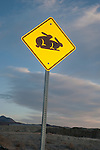 Bunnies at Play traffic sign, Mound House, Nev.