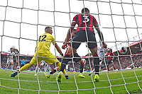 The shot from Billy Sharp of Sheffield United goes in to make the score 1-1 during AFC Bournemouth vs Sheffield United, Premier League Football at the Vitality Stadium on 10th August 2019