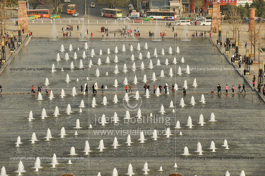 CHINA Province Shaanxi, Xian,water games, view from wild goose pagoda