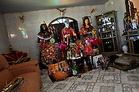 Religious statues and objects are seen in the Afro-Brazilian religious temple (terreiro) in São João de Manguinhos, Bahia, Brazil, 9 February 2012.