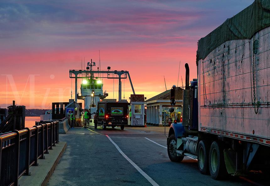 commercial ferry, Vineyard Haven, Massachusetts, USA