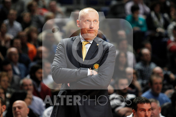 BC Khimki MR's coach Rimas Kurtinaitis during Euroleague 2012/2013 match.November 23,2012. (ALTERPHOTOS/Acero)