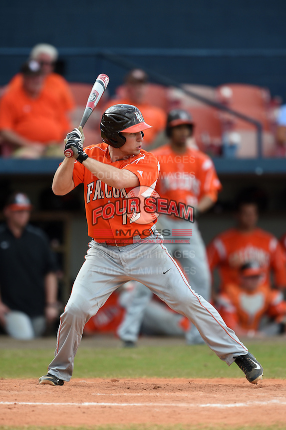 Bowling Green Falcons Kory Brown (12) during a game against the Illinois State Redbirds on March 11, 2015 at Chain of Lakes Stadium in Winter Haven, Florida.  Illinois State defeated Bowling Green 8-7.  (Mike Janes/Four Seam Images)