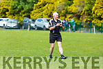 Referee Tom Griffin from Lispole in action at the Cordal against Renard game in the Junior Club Football Championship semi final in Beaufort on Sunday.