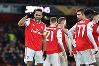 Pierre-Emerick Aubameyang celebrates scoring Arsenal's opening goal during Arsenal vs Eintracht Frankfurt, UEFA Europa League Football at the Emirates Stadium on 28th November 2019