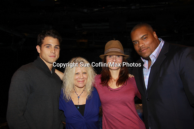 """Lenny Platt, Ilene Kristen and Sean Ringgold came to see One Life To Live Florencia Lozano who wrote the play """"Busted"""" which was performed on November 5, 2011 at the Bank Street Theater, New York City, New York.  (Photo by Sue Coflin/Max Photos)"""