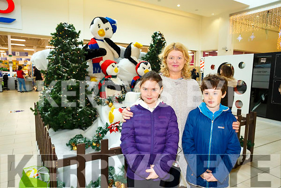Santa Arriving On Saturday At Manor West Retail Centre. Pictured genevieve O'Keefe, Kay Donovan and Edward O'Keefe from Listowel
