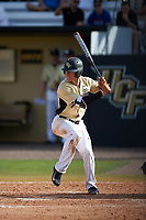 UCF Knights shortstop Ryan Crile (7) at bat during a game against the Siena Saints on February 21, 2016 at Jay Bergman Field in Orlando, Florida.  UCF defeated Siena 11-2.  (Mike Janes/Four Seam Images)