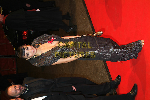 "BAI LING.""Man To Man"" premiere the opening night of the 55th Annual Berlin International Film Festival, Berlin, Germany..February 10th, 2005.full length plunging neckline cleavage hand in pocket butterfly wide collar crushed material pvc shiny fashion disaster dress.www.capitalpictures.com.sales@capitalpictures.com.©Capital Pictures"