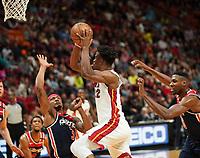 Jimmy Butler (G/F Miami Heat, #22) gegen Bradley Beal (G, Washington Wizards, #3) - 22.01.2020: Miami Heat vs. Washington Wizards, American Airlines Arena