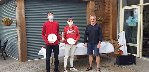 2020 Connaught Championships - Winners of Gold Fleet - Jack McDowell of Malahide Yacht Club and Harry Thompson of Wexford Harbour Sailing Club