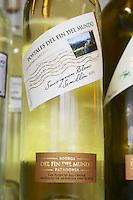 Bottle of Postal (post car) del fin del Mundo sauvignon blanc Semillon Bodega Del Fin Del Mundo - The End of the World - Neuquen, Patagonia, Argentina, South America