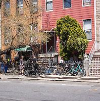 Street scene in the Bedford-Stuyvesant neighborhood of Brooklyn in New York on Friday, April 26, 2013. (© Richard B. Levine)