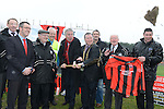 CEO of FAI John Delaney and Mayor of Drogheda Paul Bell turning the sod for Drogheda Town's new clubrooms. Photo:Colin Bell/pressphotos.ie