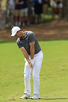 Rory McIlroy (NIR) chips onto the 2nd green during Friday's Round 2 of the 2017 PGA Championship held at Quail Hollow Golf Club, Charlotte, North Carolina, USA. 11th August 2017.<br /> Picture: Eoin Clarke | Golffile<br /> <br /> <br /> All photos usage must carry mandatory copyright credit (&copy; Golffile | Eoin Clarke)