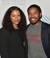 SAN RAFAEL, CA - OCTOBER 09: Taylor Russell and Kelvin Harrison Jr. arrive to the Centerpiece Film 'Waves' during the 42nd Mill Valley Film Festival at Christopher B. Smith Rafael Film Center on October 9, 2019 in San Rafael, California. Photo: imageSPACE for the Mill Valley Film Festival/MediaPunch