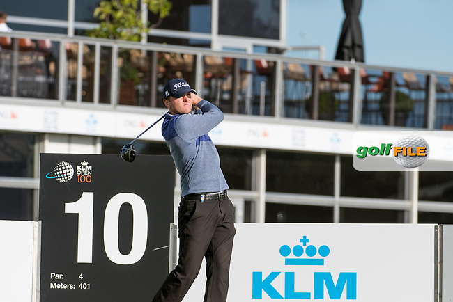 Michael Hoey (NIR) in action on the 10th hole during the 2nd round at the KLM Open, The International, Amsterdam, Badhoevedorp, Netherlands. 13/09/19.<br /> Picture Stefano Di Maria / Golffile.ie<br /> <br /> All photo usage must carry mandatory copyright credit (© Golffile   Stefano Di Maria)