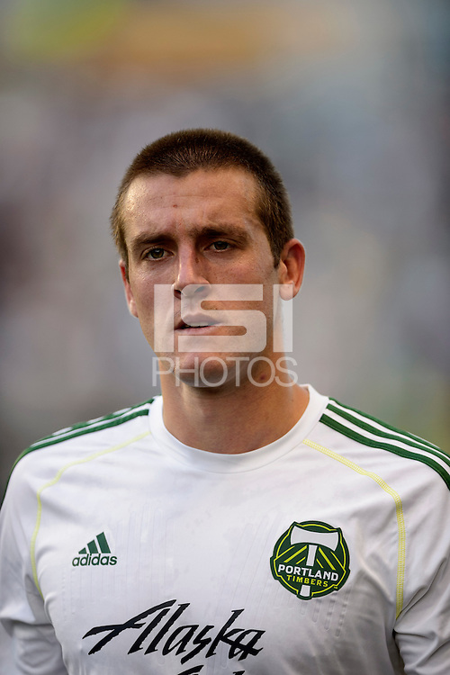 Portland Timbers goalkeeper Milos Kocic (30). The Philadelphia Union and the Portland Timbers played to a 0-0 tie during a Major League Soccer (MLS) match at PPL Park in Chester, PA, on July 20, 2013.