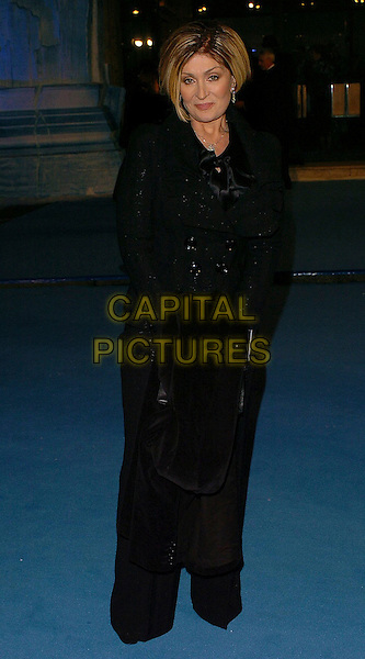 "SHARON OSBOURNE.""The Chronicles of Narnia: The Lion, The Witch & The Wardrobe"" - world premiere at the Royal Albert Hall, London, UK..December 7th, 2005.Ref: CAN.half length black jacket.www.capitalpictures.com.sales@capitalpictures.com.©Capital Pictures"