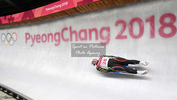 Pavel Angelov (BUL). Mens luge. Pyeongchang2018 winter Olympics. Alpensia sliding centre. Alpensia. Gangneung. Republic of Korea. 11/02/2018. ~ MANDATORY CREDIT Garry Bowden/SIPPA - NO UNAUTHORISED USE - +44 7837 394578