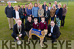 Mayor of Kerry John Brassil, Declan Dowling, Kingdom Greyhound, Kevin Horgan and Aaron Horgan, Glenderry NS and Edmond Harty of Dairymaster with the school Parent council launch the Glenderry National school fundraising night at the Dogs in the Kingdom Greyhound stadium on Saturday 23rd May