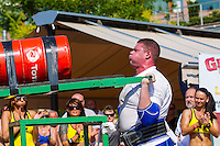 James Rude of United States of America competes in viking press during the Giants Live Strongman Competition in Budapest, Hungary on June 17, 2012. ATTILA VOLGYI