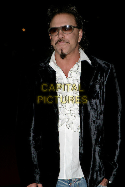 "MICKY ROURKE.Arrivals at The ""Revolver"" world premiere held at The Odeon Cinema, Leicester Square,.London, 20th September 2005.half length black velvet jacket denim jeans white shirt  sunglasses goatie beard.Ref: AH.www.capitalpictures.com.sales@capitalpictures.com.© Capital Pictures."