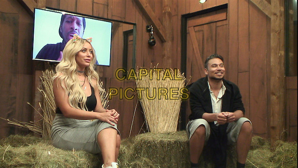 Celebrity Big Brother, Summer 2016, Day 21<br /> Aubrey O'Day, Ricky Norwood<br /> *Editorial Use Only*<br /> CAP/KFS<br /> Image supplied by Capital Pictures