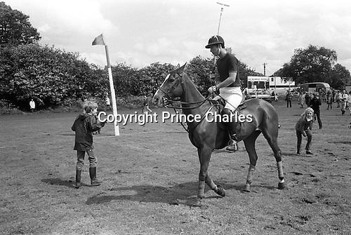 Prince Charles playing Polo. Ham Polo ground 1980s. Uk