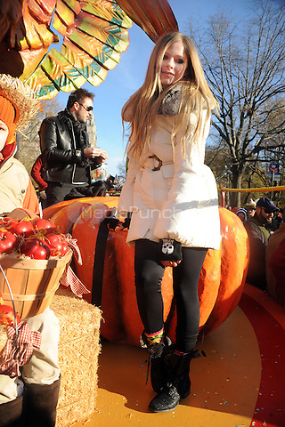 Avril Lavigne at the 2011 Macy's Annual Thanksgiving Day Parade in New York City. November 24, 2011. © mpi01/MediaPunch Inc