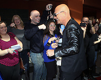 "NEWARK, NJ, USA - FEBRUARY 20: Howie Mandel at the ""America's Got Talent"" Season 9 Photo Call held at the New Jersey Performing Arts Center on February 20, 2014 in Newark, New Jersey, United States. (Photo by Jeffery Duran/Celebrity Monitor)"