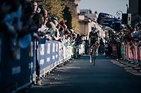 Diego Rosa (ITA/SKY) on his way to sign-on<br /> <br /> Il Lombardia 2017<br /> Bergamo to Como (ITA) 247km