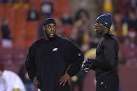 12 December 2004:  Donovan McNabb and  Terrell Owens.<br />