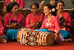 Gamelan 02 - Womens gamelan orchestra at Saraswati Temple, Ubud, Bali, Indonesia