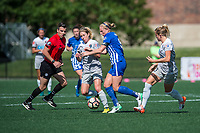 Boston, MA - Saturday June 24, 2017: McCall Zerboni and Natasha Dowie during a regular season National Women's Soccer League (NWSL) match between the Boston Breakers and the North Carolina Courage at Jordan Field.