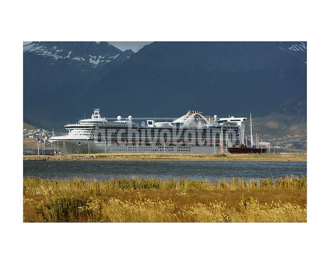 Ushuaia, the city of the extreme South of Argentina, in Tierra del Fuego province, patagonia