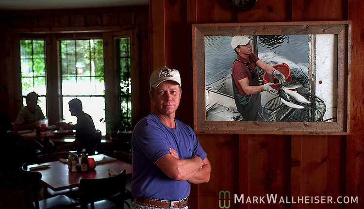 Leo Lovel, owner of Spring Creek Restaurant in Wakulla County, Florida south of Tallahassee.