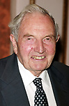 David Rockefeller attends the United Nations Association of USA Global Leadership Dinner honoring Oprah Winfrey with the Global Humanitarian Action Award at the Waldorf Astoria Hotel in New York City.<br />