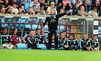 Saturday 15 September 2012<br /> Pictured: Aston Villa manager Paul Lambert shouting instructions to his players.<br /> Re: Barclay's Premier League, Aston Villa v Swansea City FC at Villa Park, West Midlands, UK.