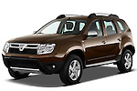 Front three quarter view of a 2010 Dacia Duster 4 Door SUV.