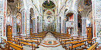 Palermo, panoramic photo of the interior of The Church of Saint Mary of Gesu (aka Chiesa del Gesu or Casa Professa), Palermo, Sicily, Italy, Europe. This is a panoramic photo of the interior of The Church of Saint Mary of Gesu (aka Chiesa del Gesu or Casa Professa), Palermo, Sicily, Italy, Europe.